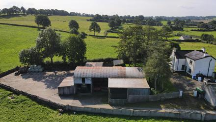 The yard at Skeaghmore contains a range of dated but useful sheds