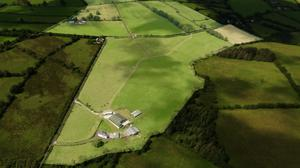 An aerial view of the farm which is described by auctioneer Stephen Barry as the best of Meath grazing ground