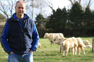 David Johnson has built up a 100-cow herd on a 300-acre farm which includes 80 acres of tillage