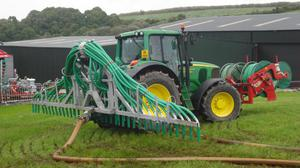 Low Emission Slurry Spreading. Stock image