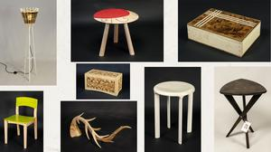 Versatile: Examples of innovative products designed and made by staff and students of GMIT Letterfrack, using hardwoods. Photos: Aoife Herriott