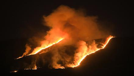 Inferno: A wildfire rages across thousands of acres of Killarney National Park. Photo: Valerie O'Sullivan