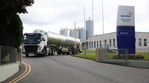 Limits: Glanbia says it will be unable to process peak milk supplies from its suppliers from 2022 to 2024 and a penalty of up to 30pc will apply to milk supplies above the new peak season limits
