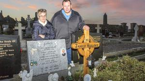 Tragedy: Padraig Higgins and his wife Joan, whose six-year-old son James died in an accident on their farm near Shannonbridge, Co Offaly in 2008.Photo: Jeff Harvey/HR Photo