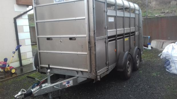 A livestock trailer similar to the one stolen
