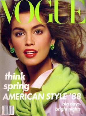 One of Cindys first Vogue covers - in February 1988