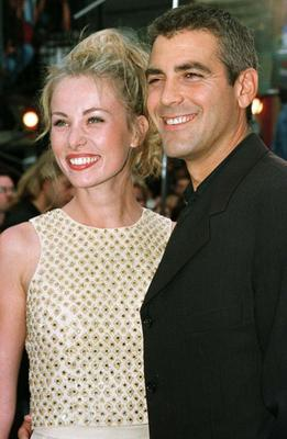Clooney met French waitress Celine Balitran in Paris and they dated from 1996-1999.