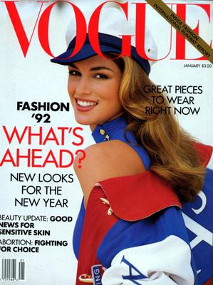 Crawford covered US Vogue in January 1992