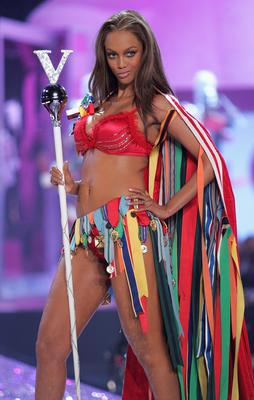 Tyra Banks was a VS Angel until 2008.