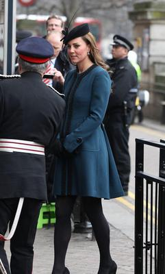 LONDON, ENGLAND - MARCH 20:  Catherine, Duchess of Cambridge makes an official visit to Baker Street Underground Station on March 20, 2013 in London, England.  (Photo by Danny E. Martindale/Getty Images)