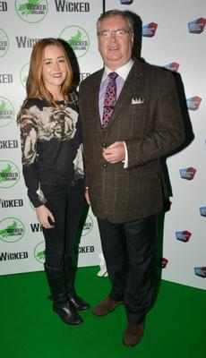 Joe Duffy  daughter Ellen Duffy at the opening night of the musical Wicked at The Bord Gais Energy Theatre.