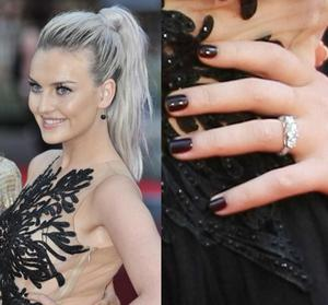 Little Mix's Perrie Edwards has announced her engagement to One Direction's Zayn Malik. She intially sparked speculation of a proposal after sporting this incredible rock at the world premiere of 1D: This Is Us.