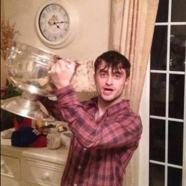 When Harry Potter star Daniel Radcliff bumped into the Dublin minor football team on Grafton Street last September, he accepted an invitation back to one of their houses to keep the party going. As the photo tells, he continued partying until after 4 am with the victorious team.
