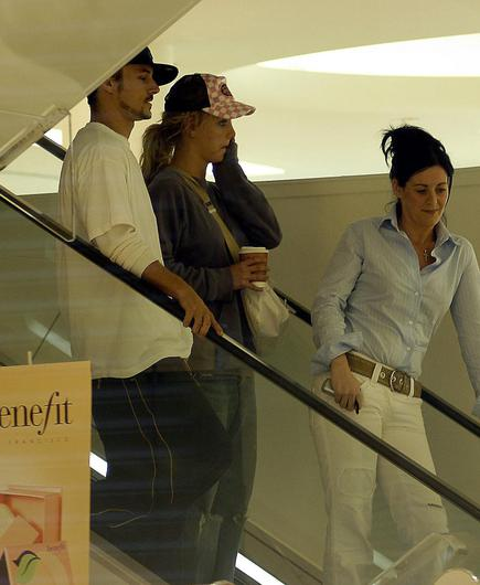 Britney Spears and her then boyfriend Kevin Federline have a private shop in Brown Thomas in 2004.