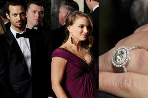 Natalies dazzling ring, which was designed by her boyfriend (now husband) Benjamin Millepied, isnt just beautiful; its eco friendly too. It includes recycled platinum, an antique center stone and accenting pav diamonds.