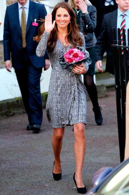 The Duchess looks blooming beautiful in the early stages of her pregnancy.