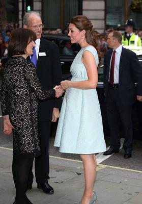 LONDON, ENGLAND - APRIL 24:  Catherine, Duchess of Cambridge greaes people as she attends an evening reception to celebrate the work of The Art Room charity at The National Portrait Gallery on April 24, 2013 in London, England.  (Photo by Tim P. Whitby - WPA Pool/Getty Images)