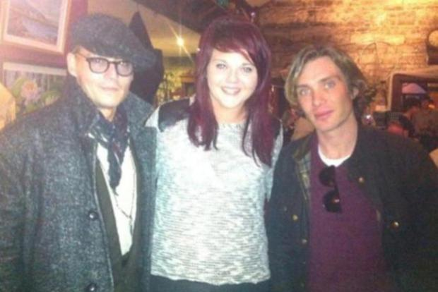 Johnny Depp and Cillian Murphy shocked locals when they poppped in for Sunday lunch in a small village in Co Westmeath last weekend.
