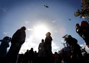 No Repro Fee. Eyes on the Sky! Spectators enjoying the ariel fun at the IAA FlightFest which took place on the River Liffey, Dublin. Pic. Robbie Reynolds