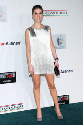 The actress wowed in a 'Great Gatsby'-esque Tim Ryan dress at a pre-Oscar party in LA earlier this year.