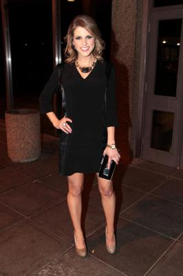 Bumpwatch begins! The mum-to-be rocks an LBD, Penneys shoes and Alexis Bittar jewellery, for an appearance on the Late Late Show in November 2012.