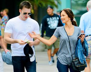 Actors Chris Evans and Minka Kelly have split after just over one year together.
