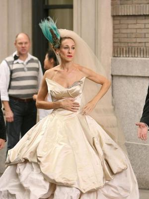 Carrie Bradshaw in the Sex and The City movie in 2008