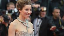 Jessica Biel poses on May 19, 2013 as she arrives for the screening of the film 'Inside Llewyn Davis' presented in Competition at the 66th edition of the Cannes Film Festival in Cannes.