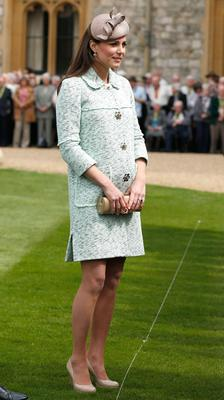 The Duchess had her favourite coat altered so that it could accommodate her growing shape during pregnancy.