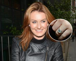 Mairead Farrell shows off her enormous diamond engagement ring from fiance Louis Ronan