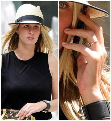 Nicky Hilton has finally given a glimpse of her impressive diamond engagement ring.