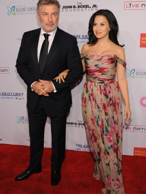 NEW YORK, NY - OCTOBER 15:  Alec Baldwin and Hilaria Baldwin attends the Elton John AIDS Foundation's 12th Annual An Enduring Vision Benefit at Cipriani Wall Street on October 15, 2013 in New York City  (Photo by Dimitrios Kambouris/Getty Images)