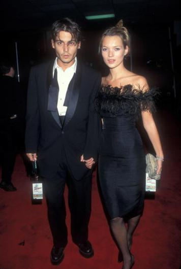 Johnny Depp and ex-girlfriend Kate Moss