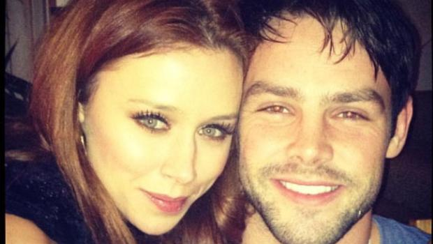 """The Saturdays star posted this cute pic of herself and her rugby player husband, Ben Foden and wrote: """"Loving my hubby New Year's Eve!"""" Bless!"""
