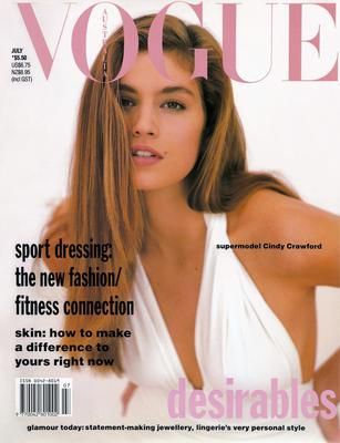 Cindy covered Vogue Australia in 1990