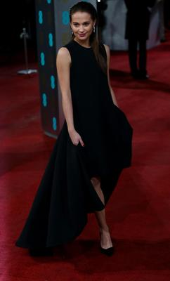 Dior scored a perfect hat trick with Alicia Vikander's mullet-hemmed gown. Great from the front, even better from the back.