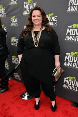 CULVER CITY, CA - APRIL 14:  Actress Melissa McCarthy arrives at the 2013 MTV Movie Awards at Sony Pictures Studios on April 14, 2013 in Culver City, California.