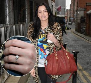 Louise Duffy shows off her beautiful engagement ring to former Kerry footballer Paul Galvin