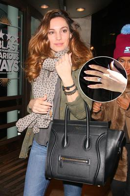 Kelly Brook has shown off the diamond engagement ring given to her by ex Gladiator David Tornado McIntosh