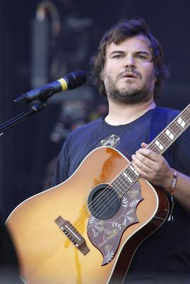 All-round funnyman, Tenancious D singer and 'Nacho Libre' actor Jack Black performs on stage.