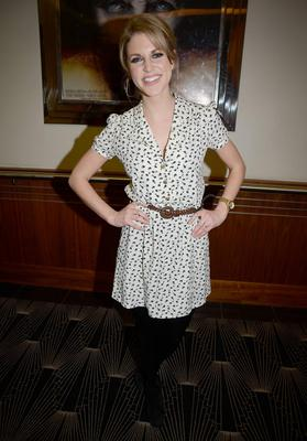 Looking pretty and understated in a print dress at the Irish premiere of 'The Rite' in February, 2011.