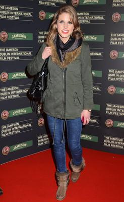 Keeping toasty at the Jameson Dublin International Film Festival in 2011 in an Urban Outfitter's parka, skinnies and fur-lined boots.