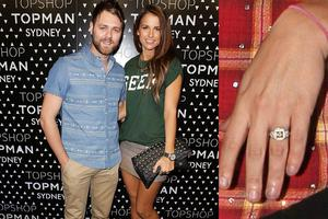Vogues got a massive rock from Brian McFadden. The pair married in a medieval Italian castle in September.
