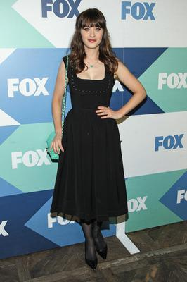 Actress Zooey Deschanel attends the Fox All-Star Party on August 1, 2013 in West Hollywood, California.