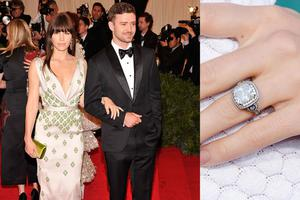 Jessica and her fianc Justin Timberlake are said to be tying the knot in Italy this weekend. He proposed with this fabulous six-carat radiant cut ring. Youd really have to say yes, wouldnt you?