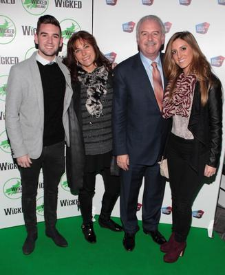 Marty Whelan and wife Maria with kids Jessica and Thomas at the opening night of the musical Wicked at The Bord Gais Energy Theatre.