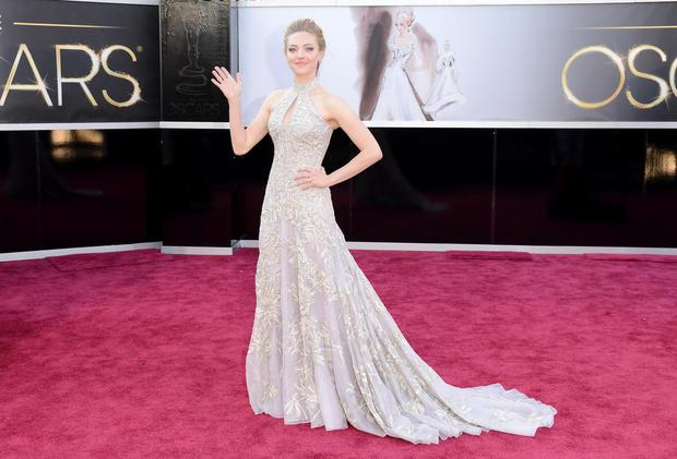 Amanda Seyfried at the Oscars in 2014, wearing Givenchy
