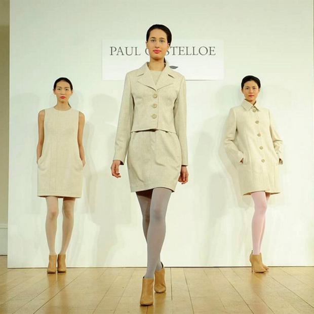LFW veteran Paul Costello's slick collection in shades of pale was eminently wearable.