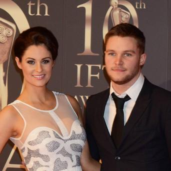 Winner of the Best Actor Award Jack Reynor brought his new girlfriend, model Madeline Mulqueen.