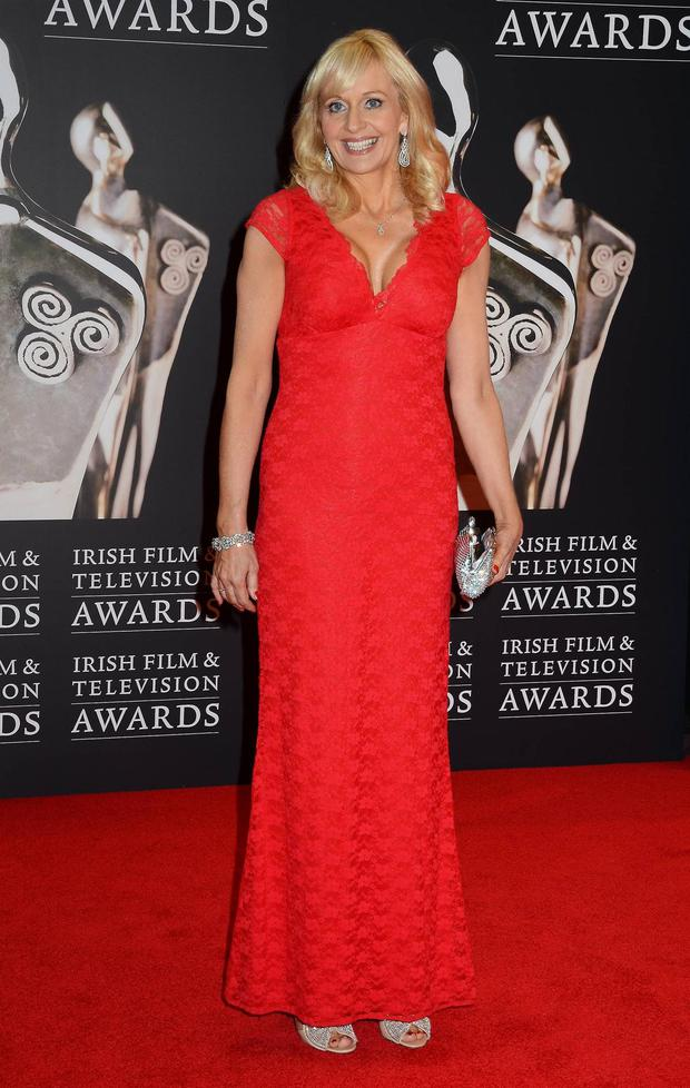 Style queen Miriam O'Callaghan is the lady in red in Marion Murphy-Cooney at last year's IFTA awards.